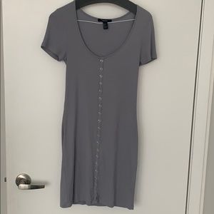 Forever 21 Ribbed button Down Midi Dress
